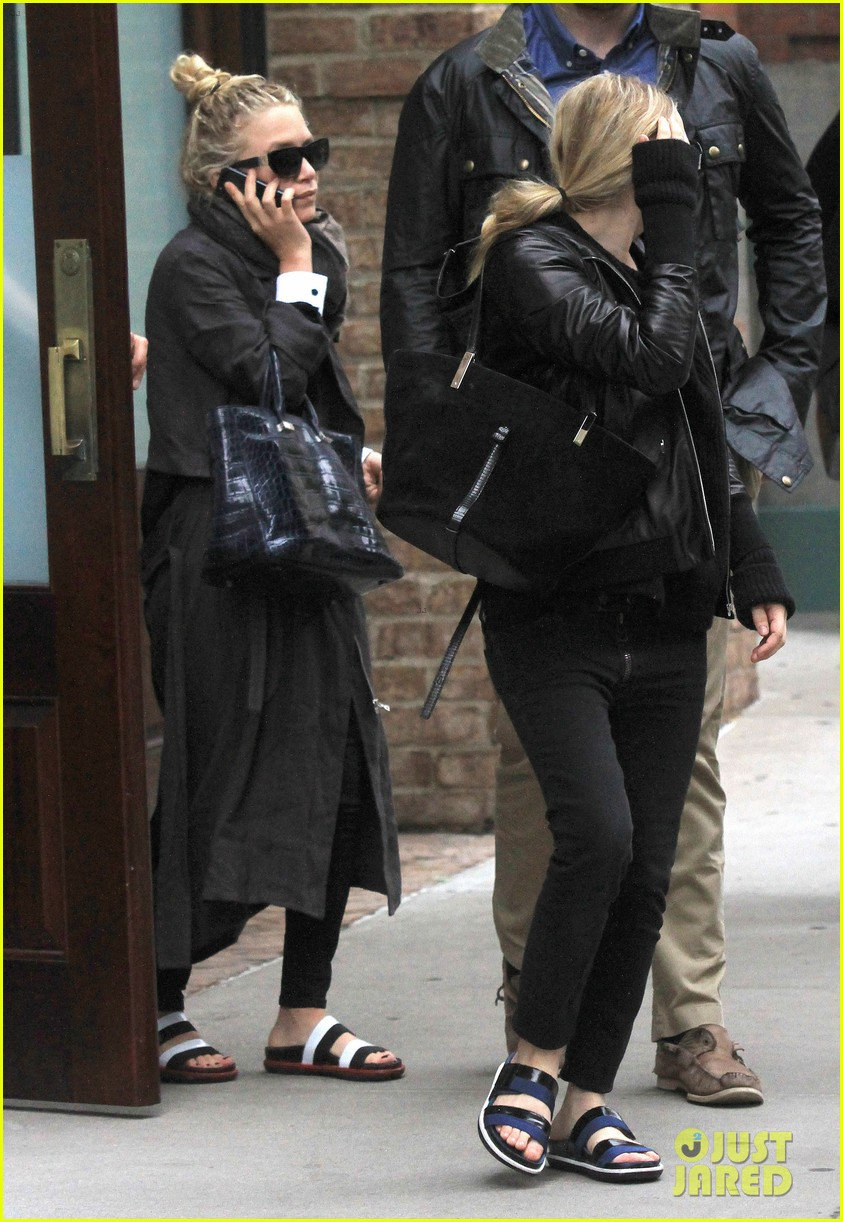 mary kate ashley olsen step out on 27th birthday 032890707