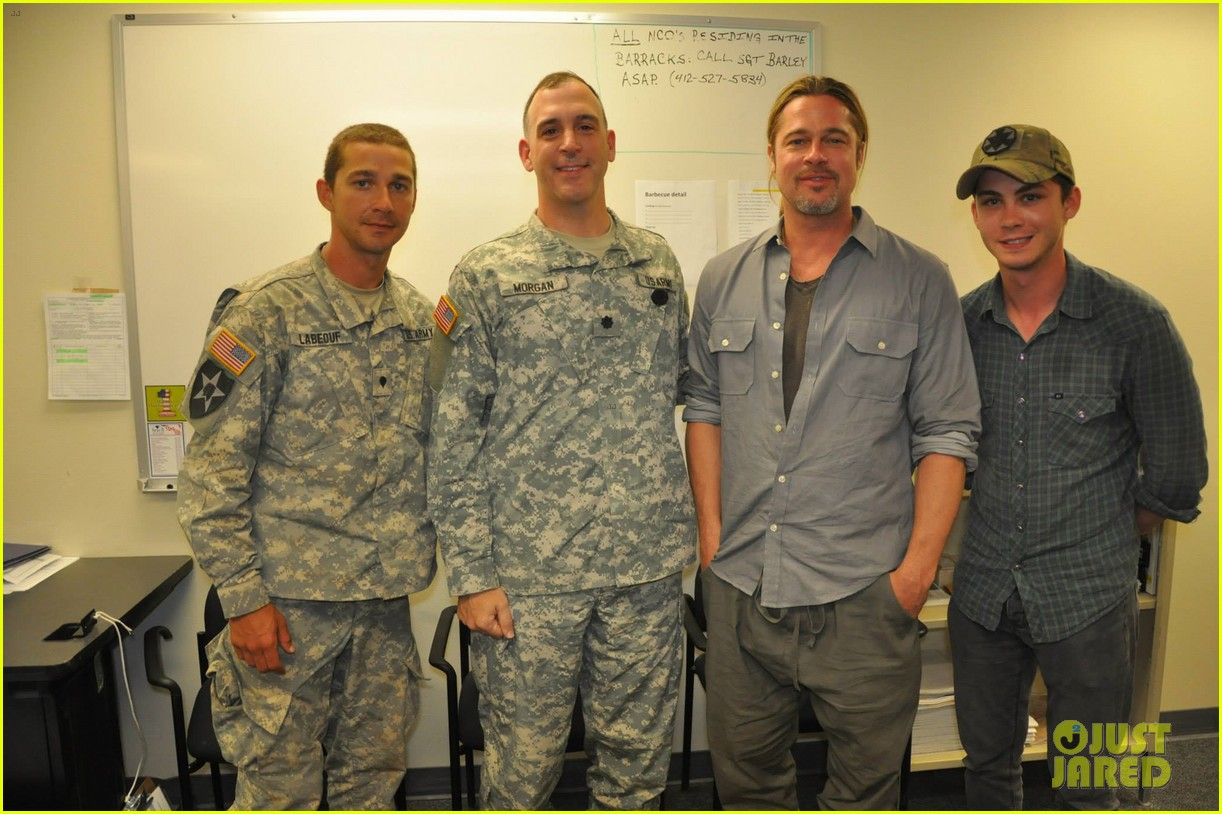 brad pitt shia labeouf visit fort irwin to prep for fury 04