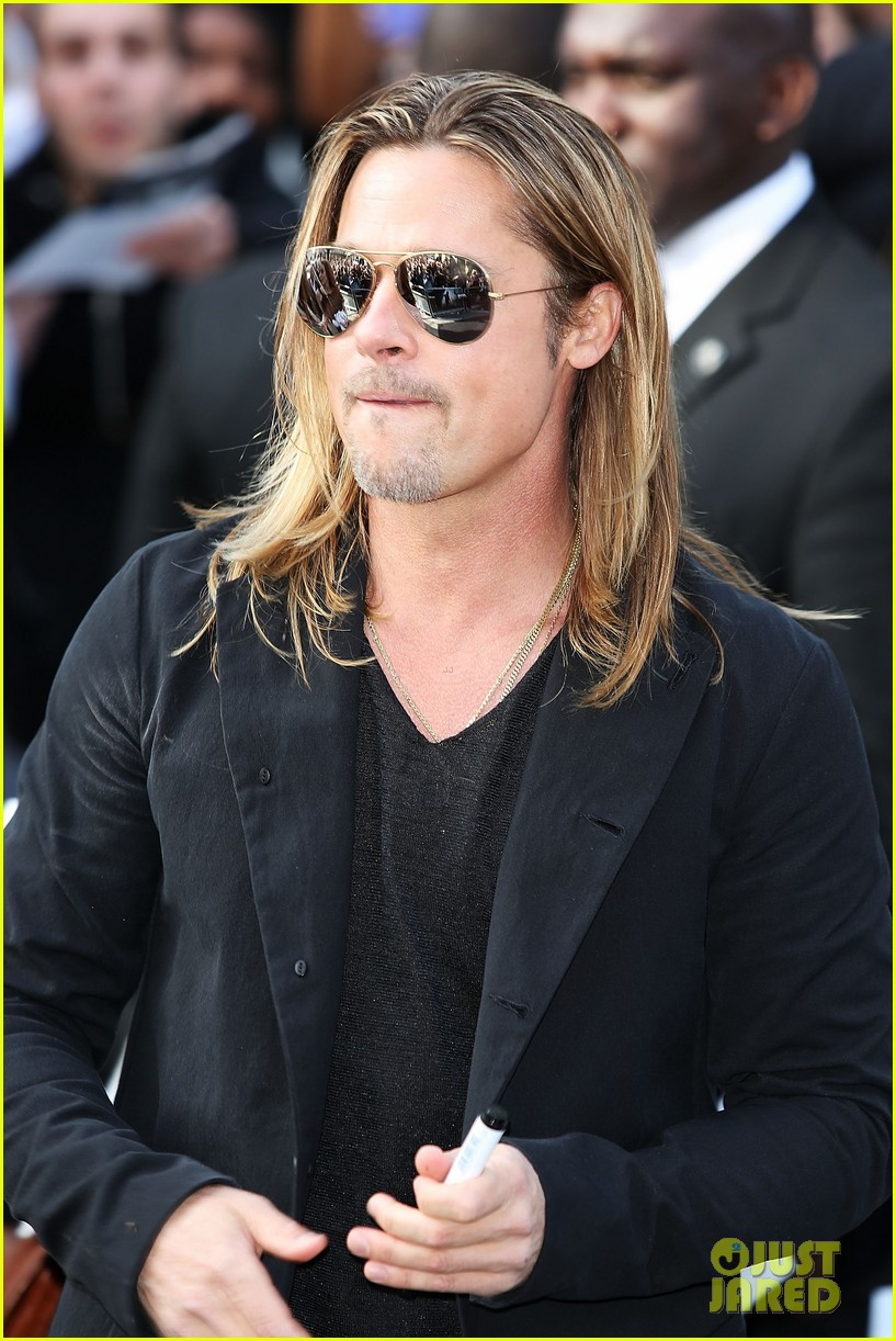 Brad Pitt World War z Hairstyle Brad Pitt at 'world War Z'