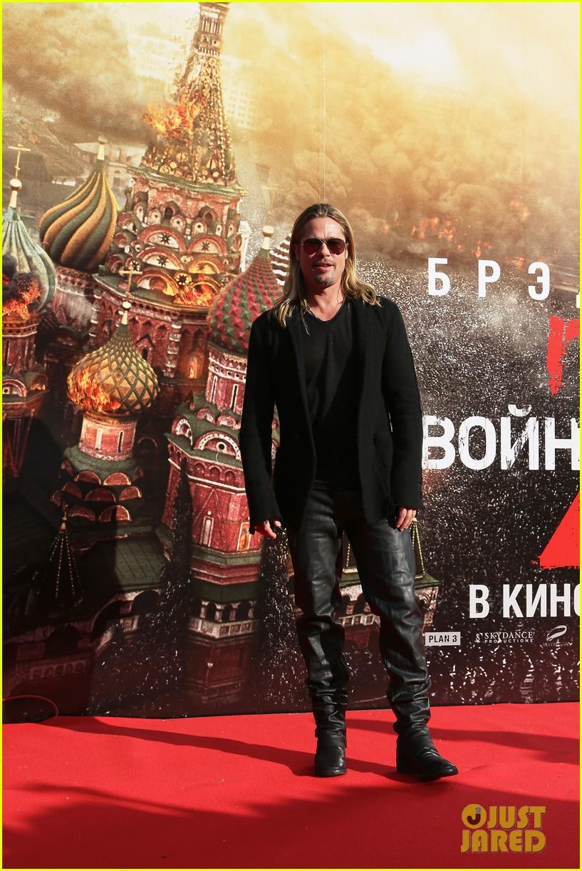 brad pitt world war z at moscow film festival 08