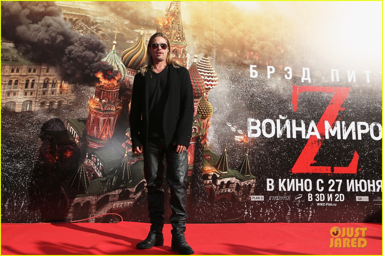 brad pitt world war z at moscow film festival 10