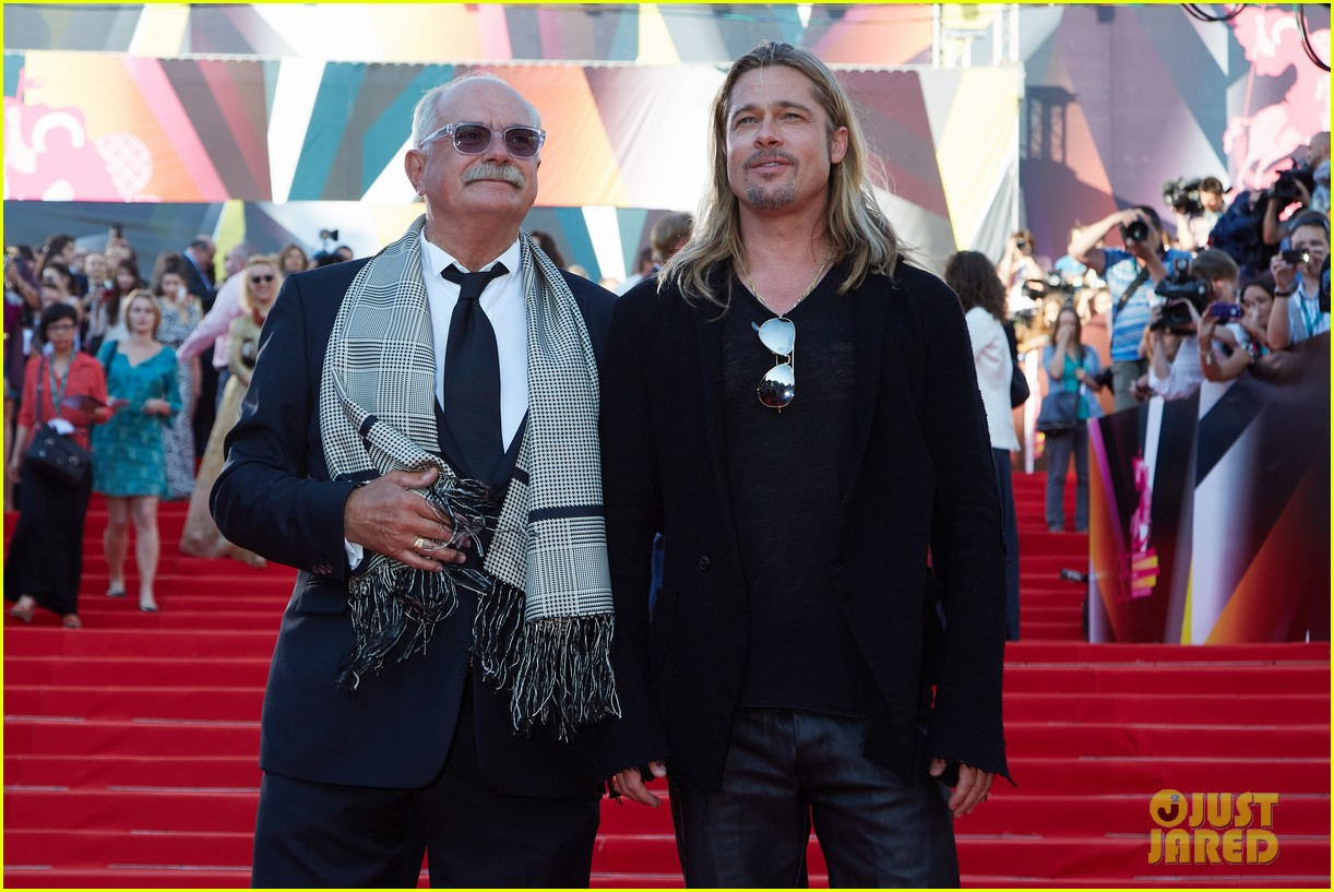brad pitt world war z at moscow film festival 21