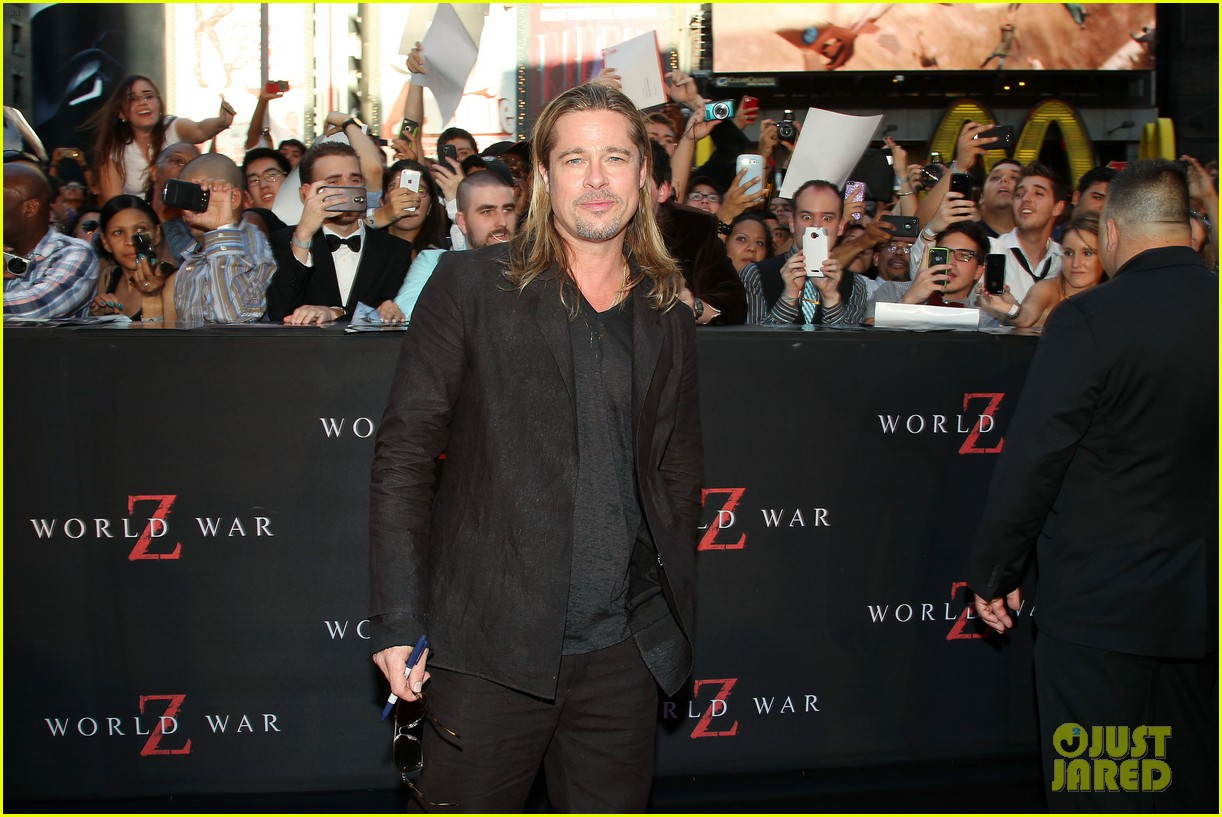brad pitt world war z new york premiere 302893172