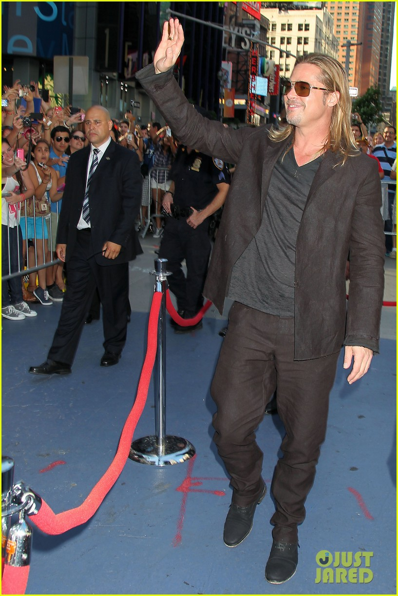 brad pitt world war z new york premiere 322893174