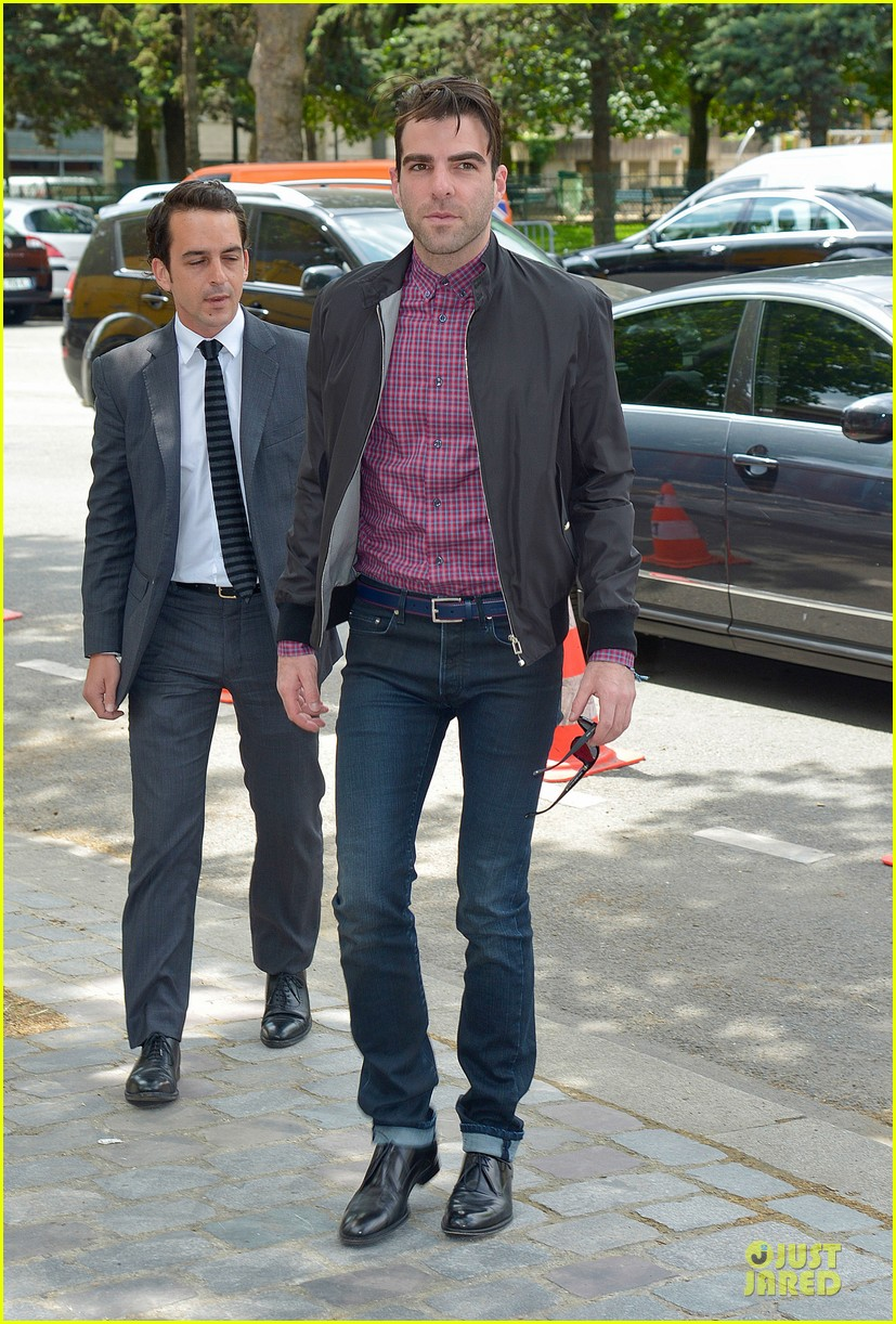 zachary quinto christian dior paris fashion show 032900519