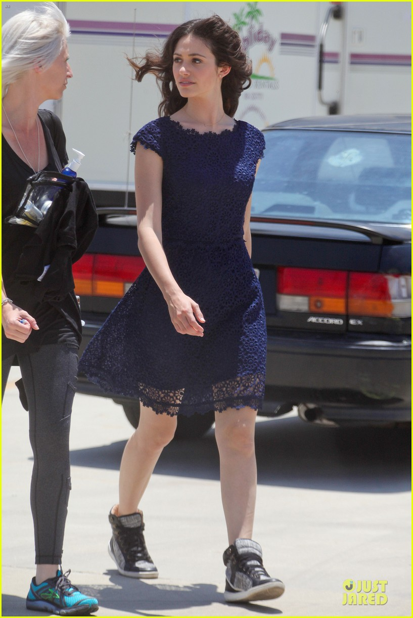emmy rossum justin long makes me laugh too much on comet 032893911