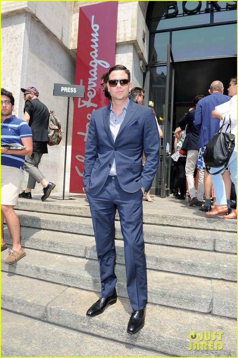 mark salling michael pitt milan fashion week shows 112897260