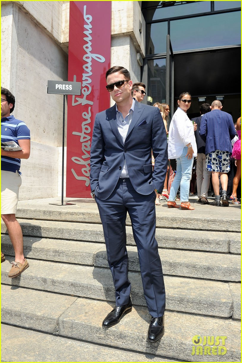 mark salling michael pitt milan fashion week shows 122897261