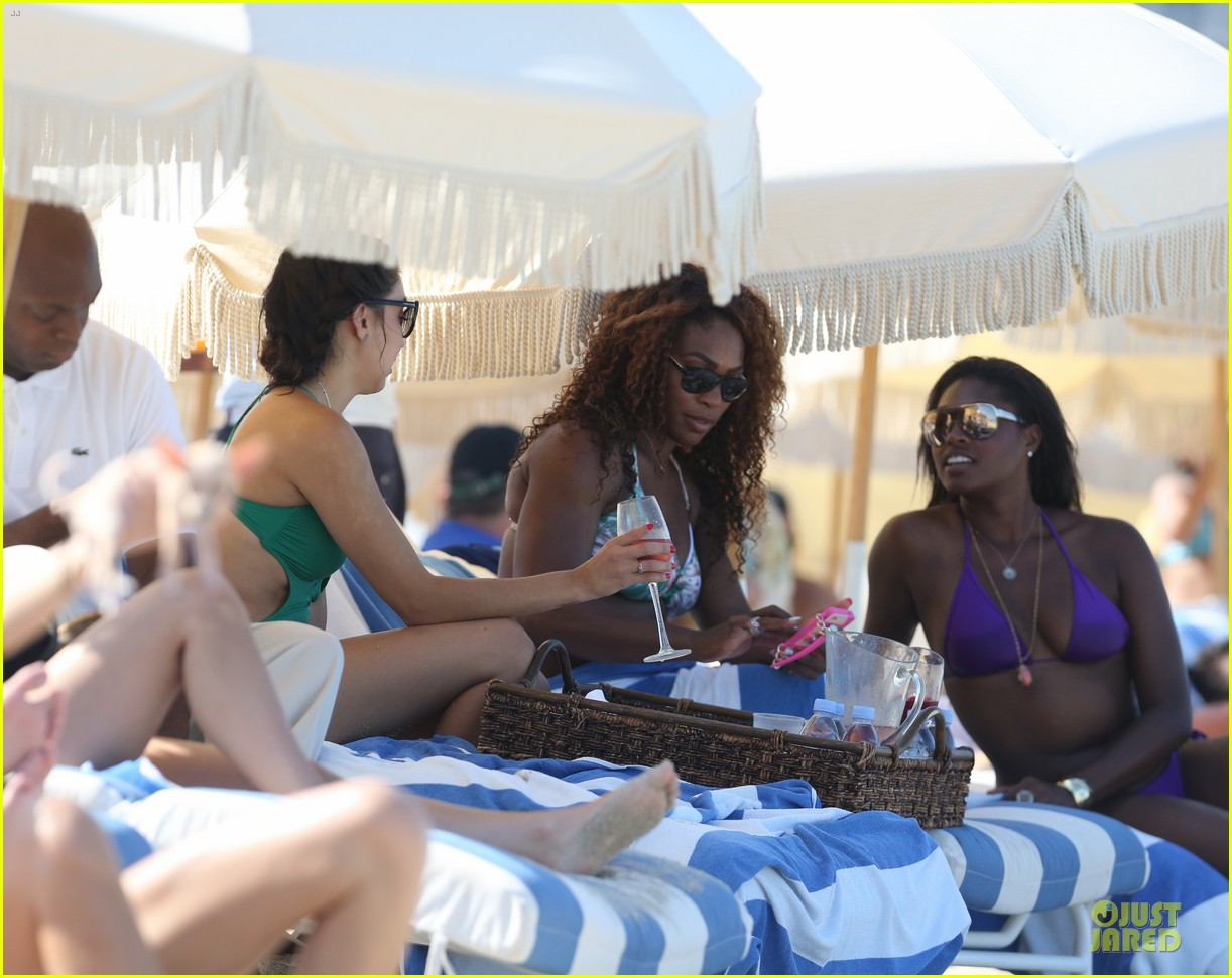 serena williams miami bikini beach babe 10