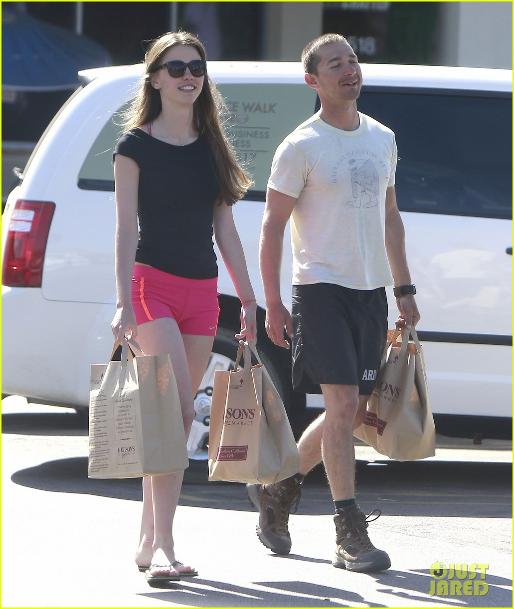 shia labeouf mia goth stock up for summer weekend 122895812