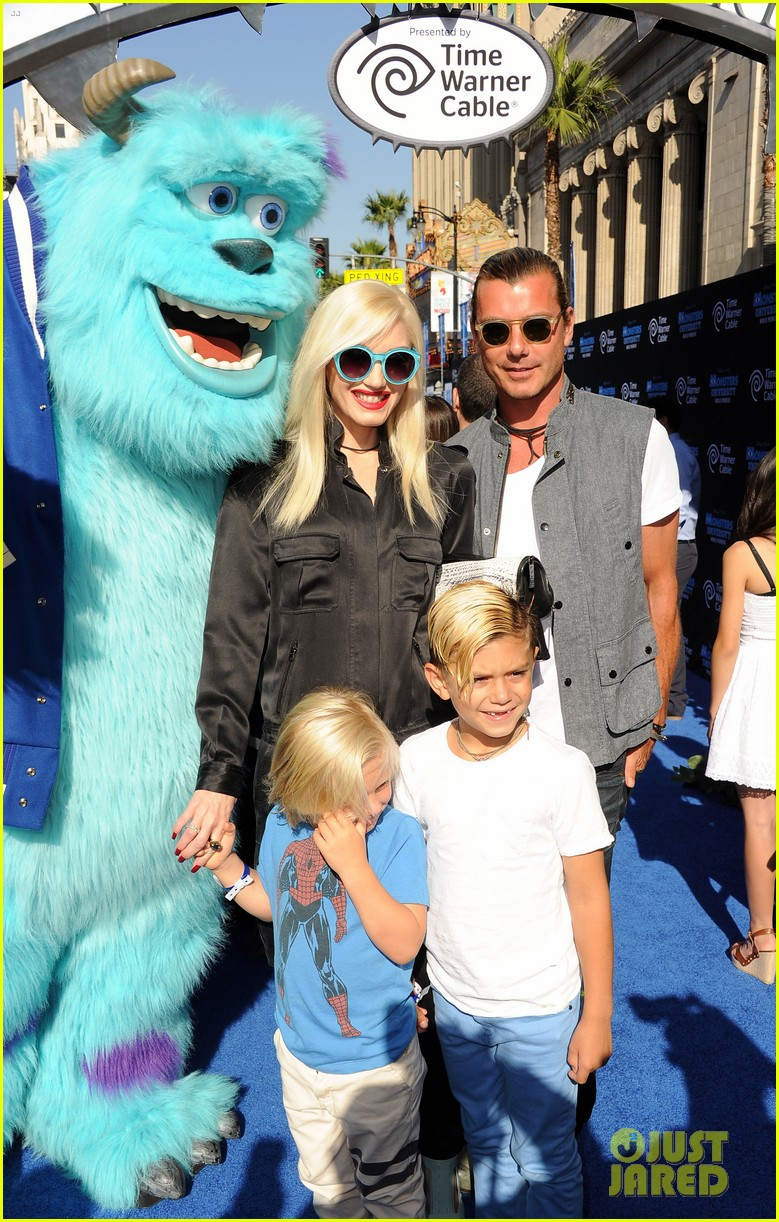 gwen stefani gavin rossdale monsters university premiere with the kids 032893288
