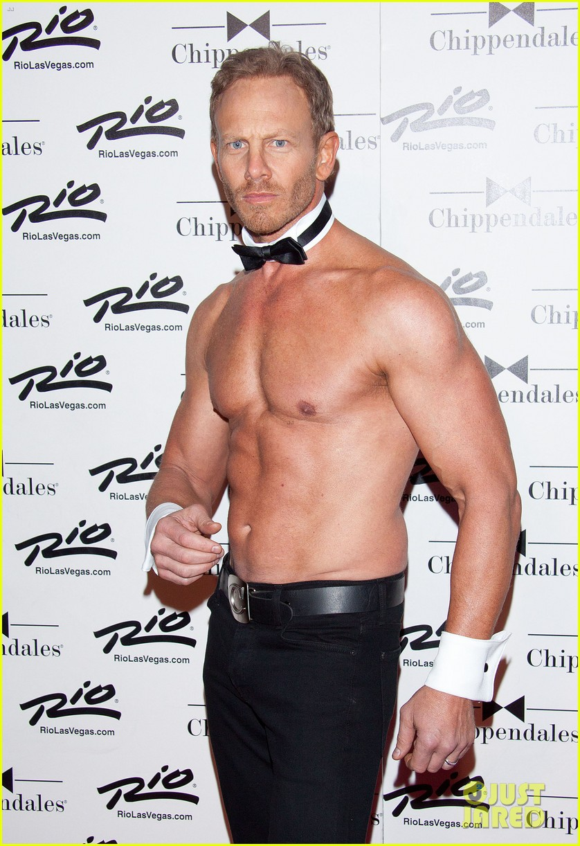 ian ziering shirtless chippendales debut 232887431