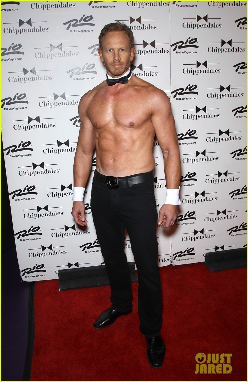 ian ziering shirtless chippendales debut 27