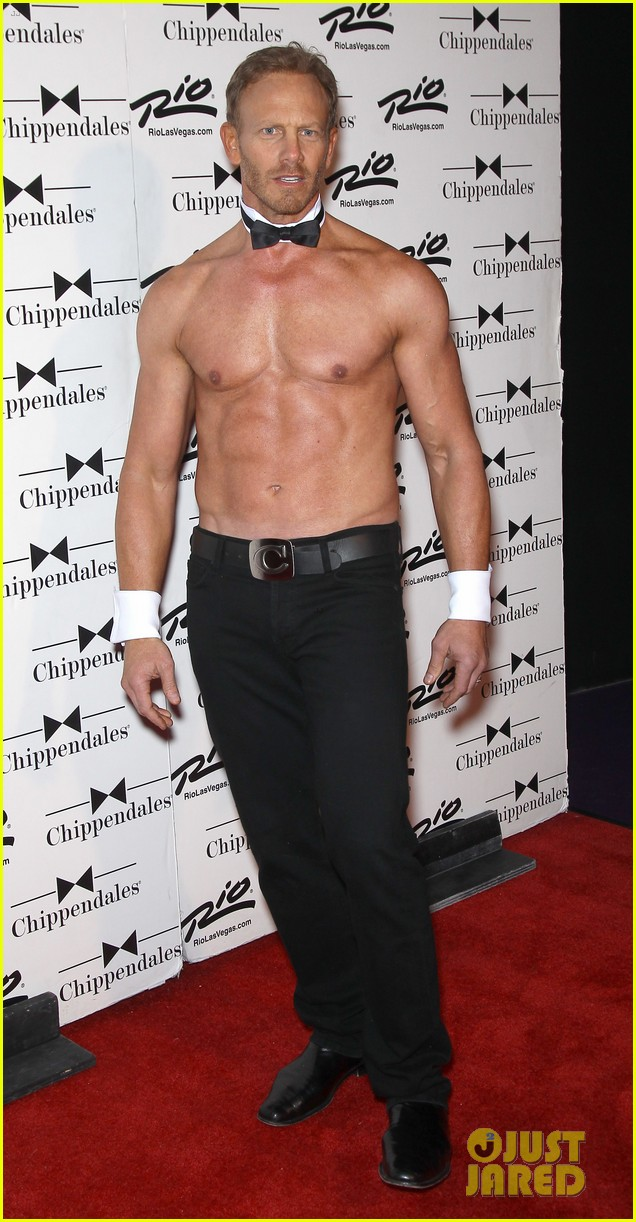 ian ziering shirtless chippendales debut 29