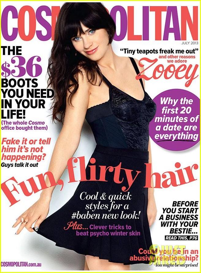 zooey deschanel covers cosmopolitan australia july 2013 01