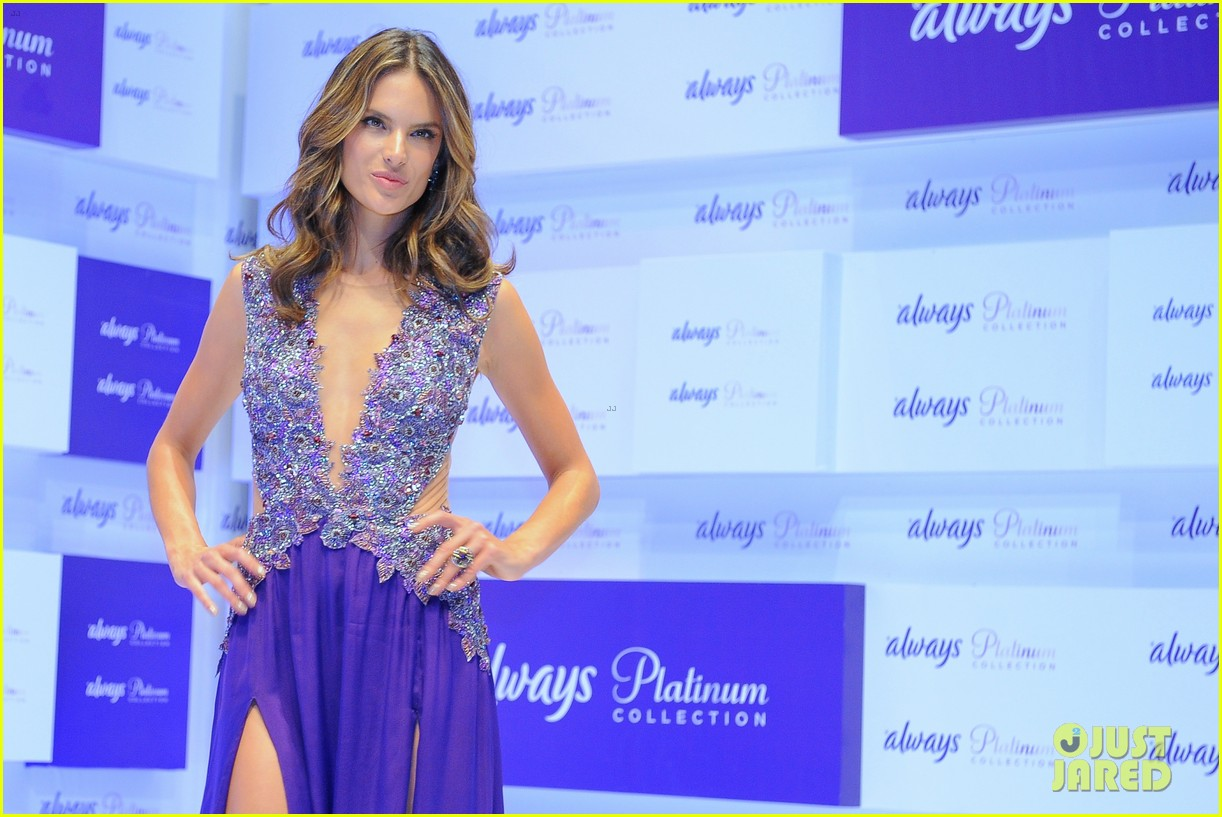 alessandra ambrosio always platinum collection launch 12