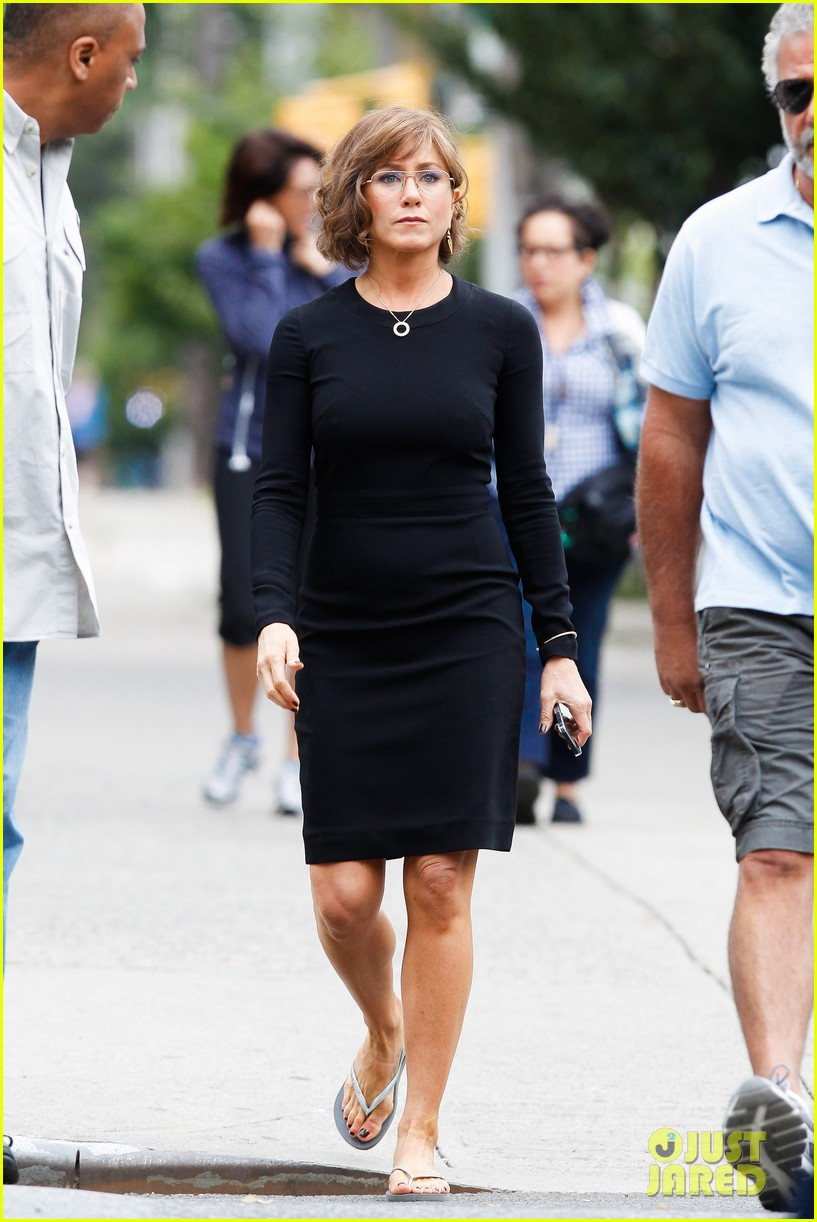 jennifer aniston bespeckled on squirrels set 242916825
