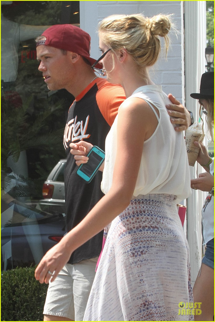 ireland baldwin slater trout hold hands in the hamptons 182914435