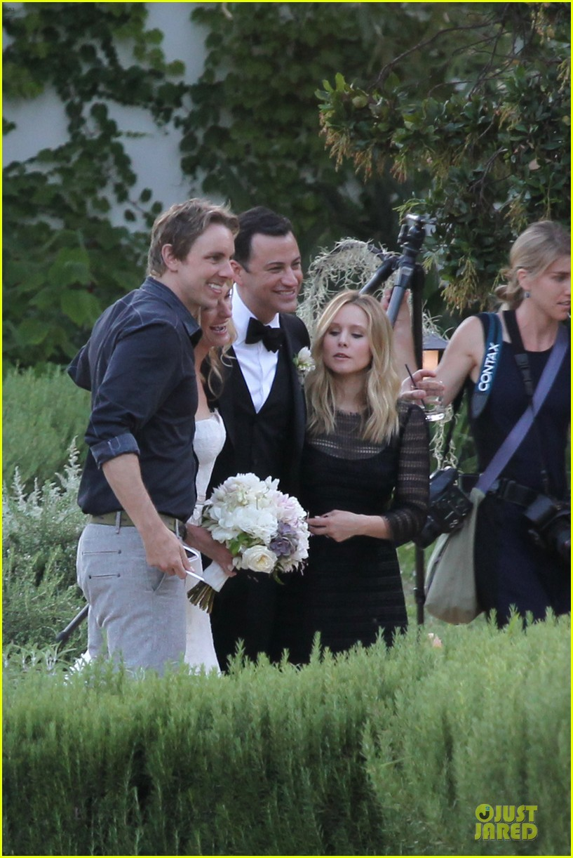 kristen bell dax shephard jimmy kimmel molly mcnearney wedding pic 02