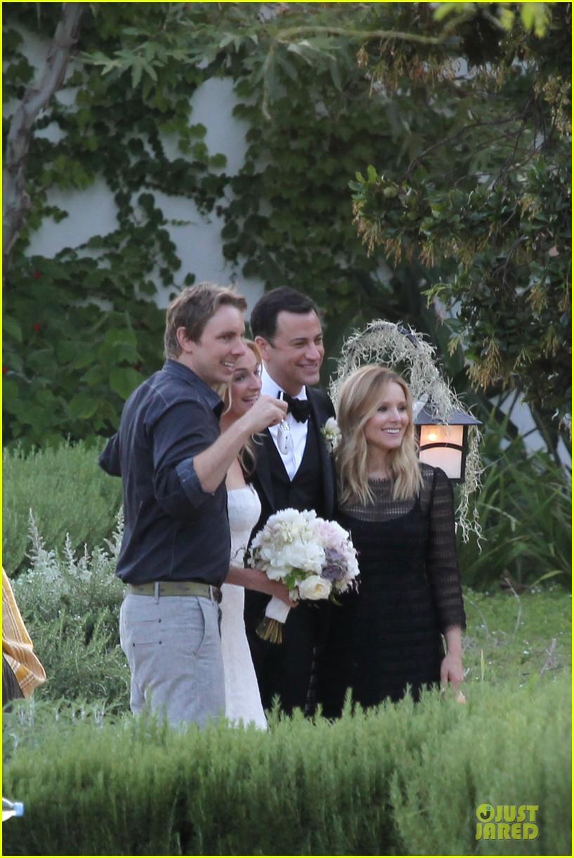 kristen bell dax shephard jimmy kimmel molly mcnearney wedding pic 11