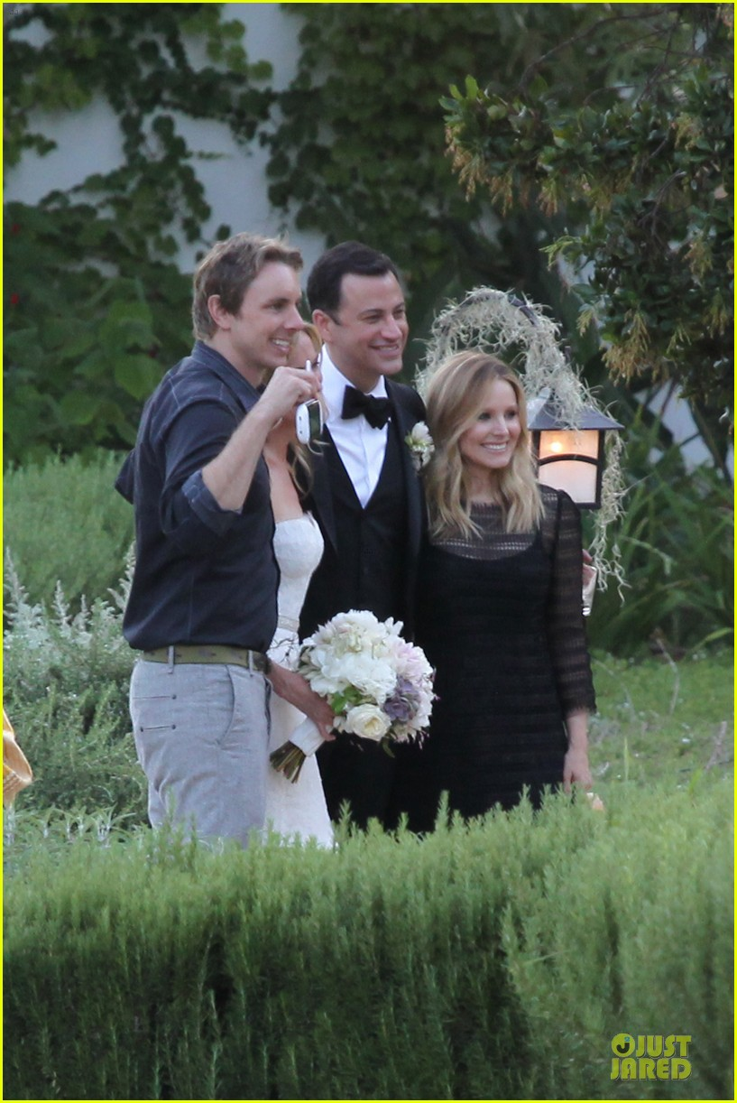 kristen bell dax shephard jimmy kimmel molly mcnearney wedding pic 222909152