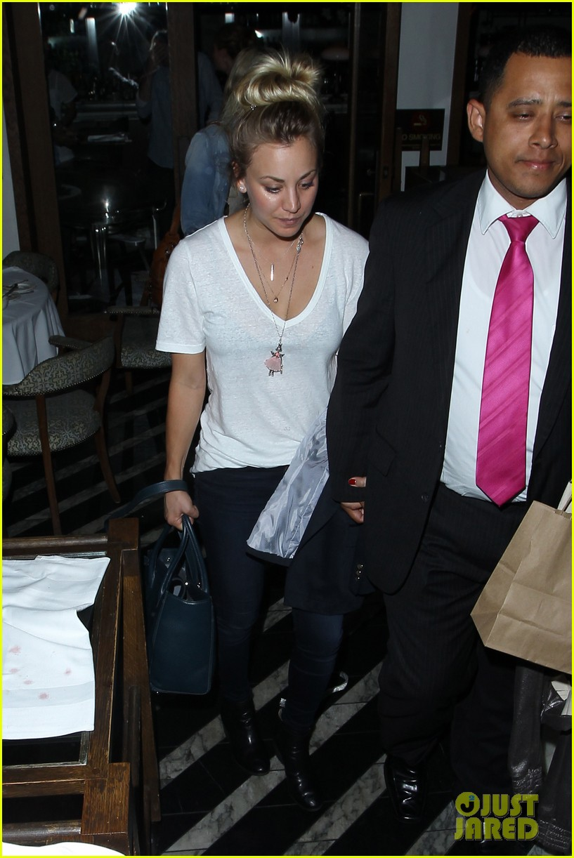 kaley cuoco leaves henry cavill at home for girls night 19