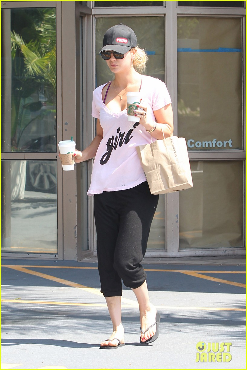 kaley cuoco saturday morning coffee run for two 022904943