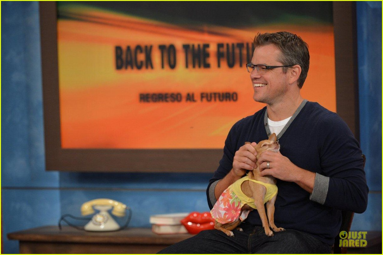 matt damon elysium promotion on despierta america 02