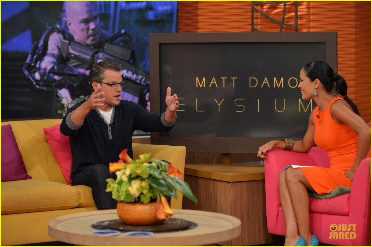 matt damon elysium promotion on despierta america 05