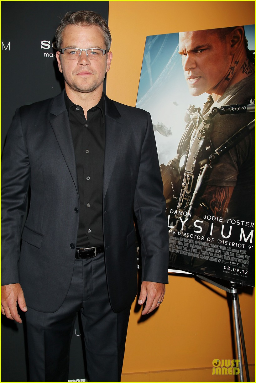 matt damon kellan lutz elysium nyc screening 06