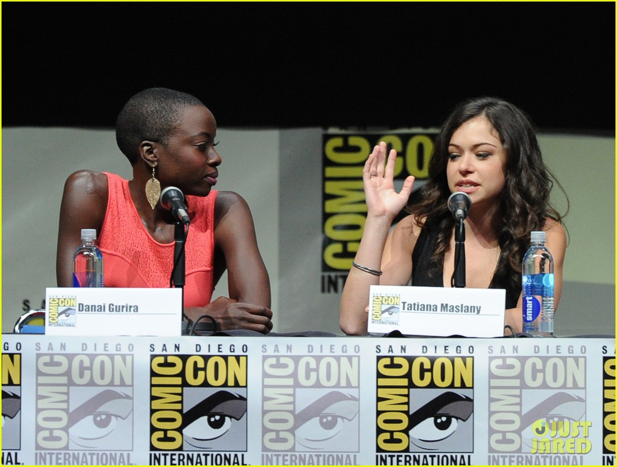 danai gurira tatiana maslany women who kick ass comic con panel 08
