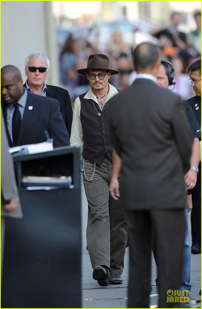 johnny depp lone ranger promotion on jimmy kimmel live 01
