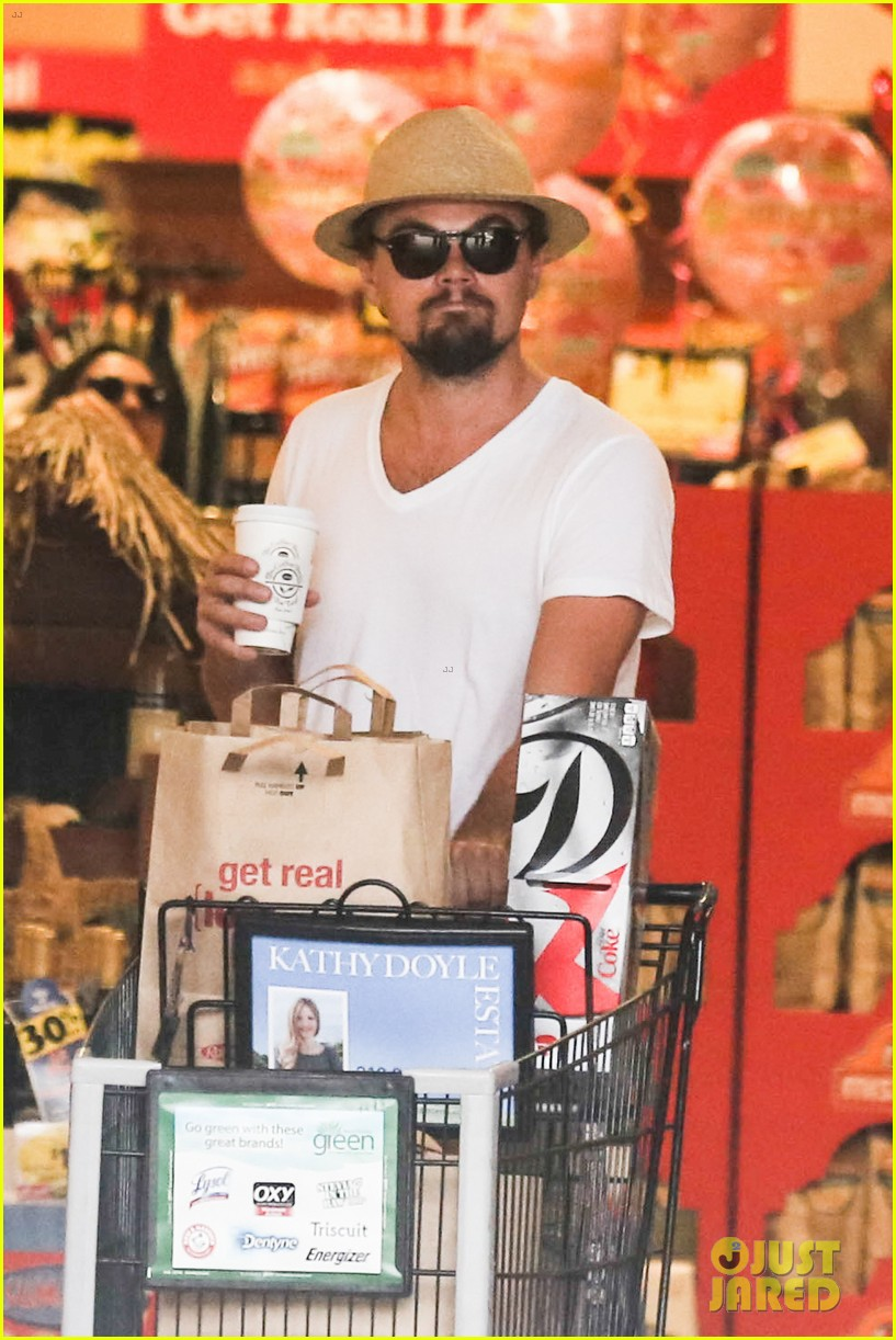 leonardo dicaprio fourth of july grocery shopping 102904001