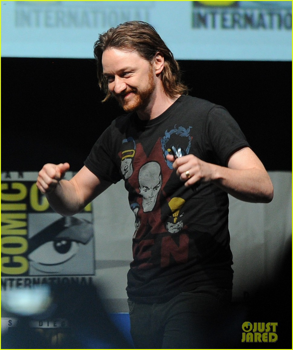 michael fassbender james mcavoy x men at comic con 13