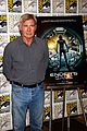 hailee steinfeld harrison ford enders game at comic con 07