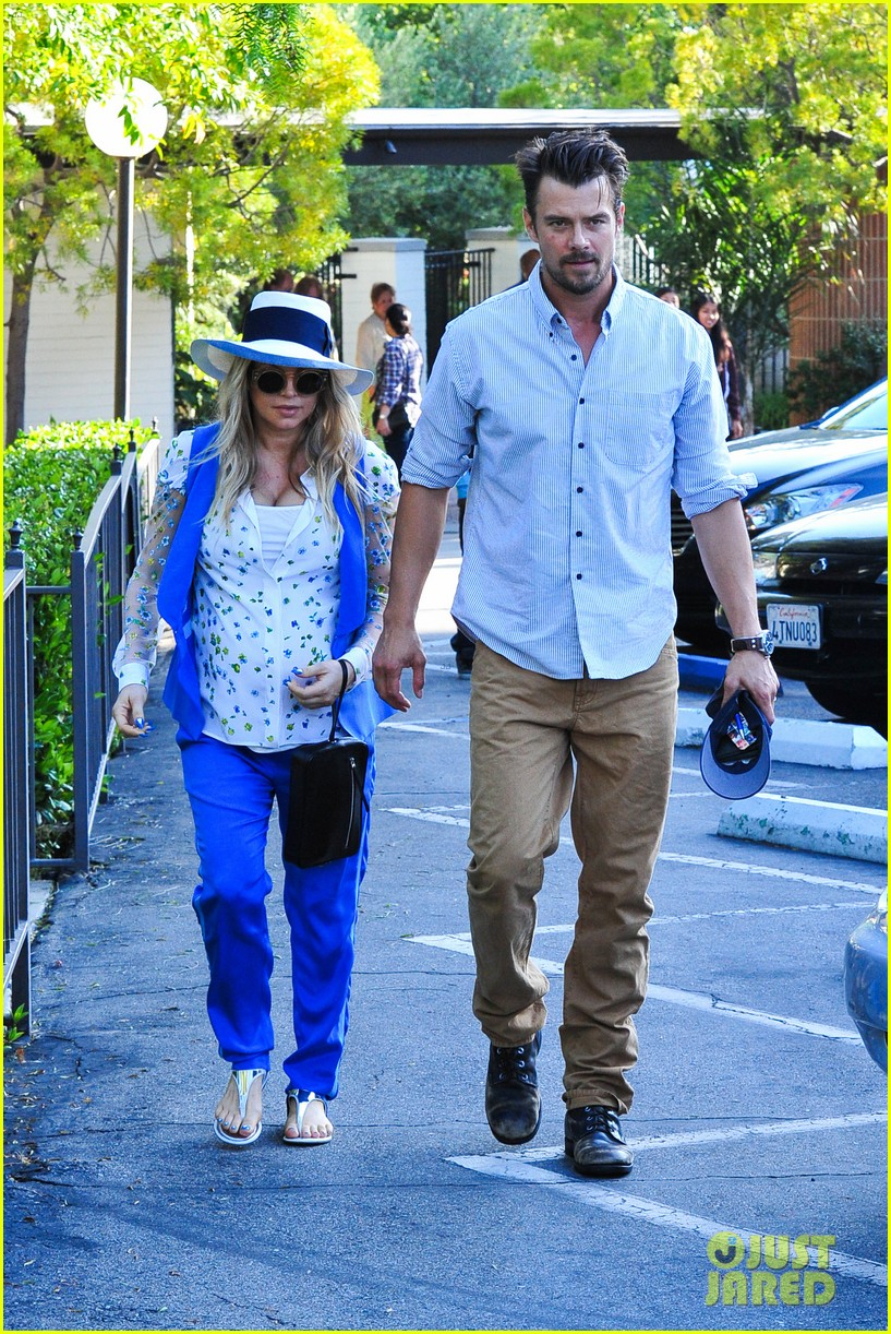 fergie josh duhamel go to church before baby shower day 12