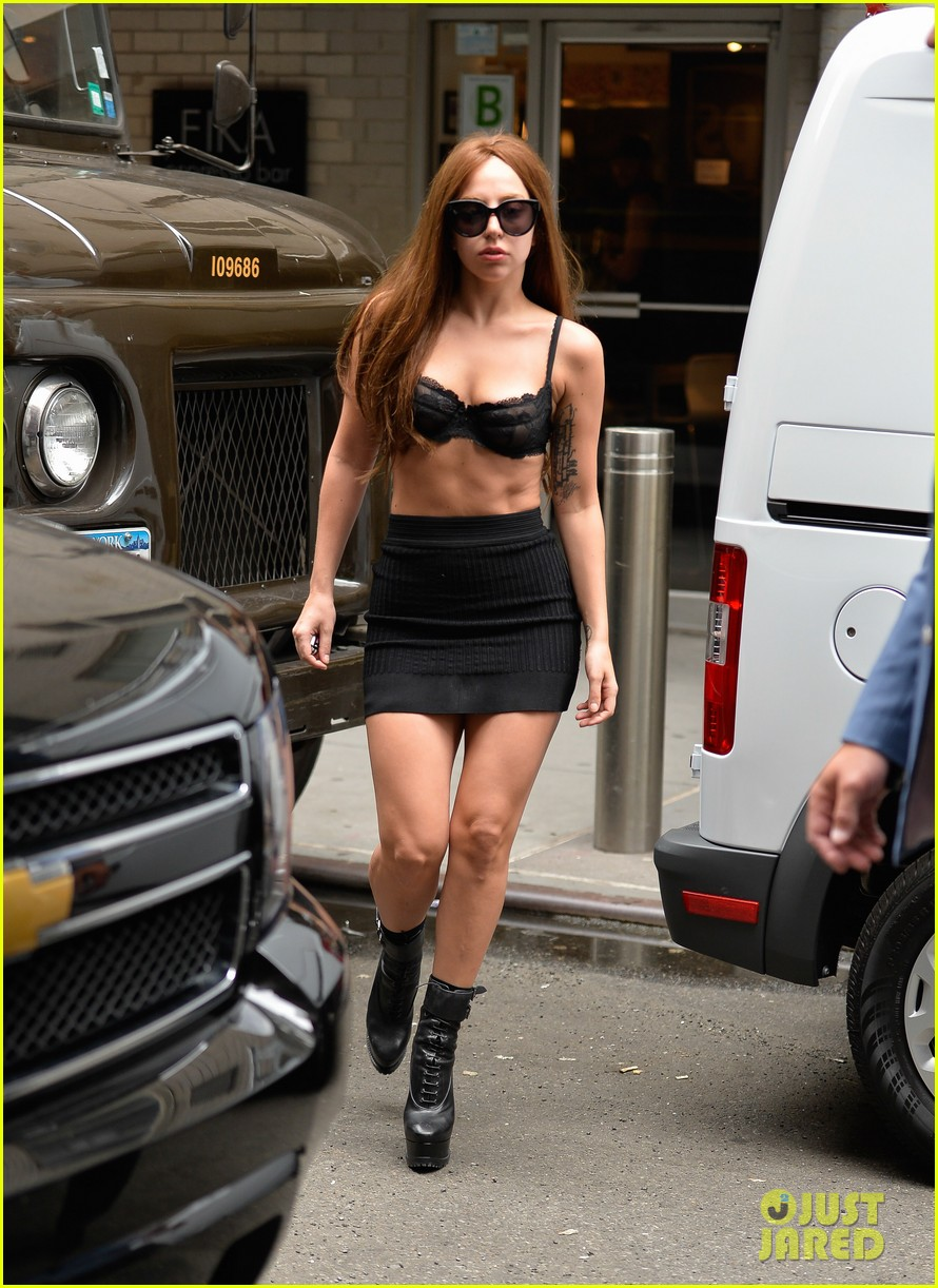 lady gaga wears bra as shirt in new york city 04