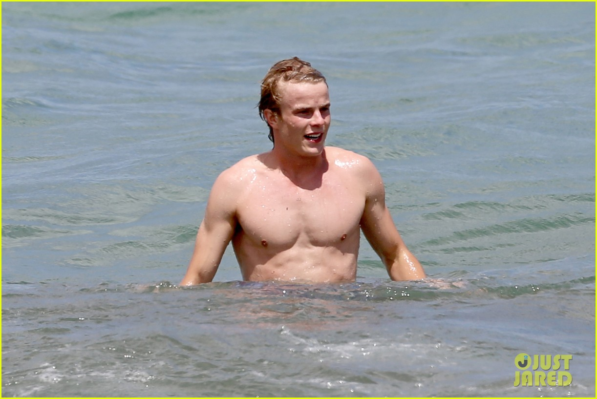 lucy hale more beach fun with shirtless graham rogers 182902611
