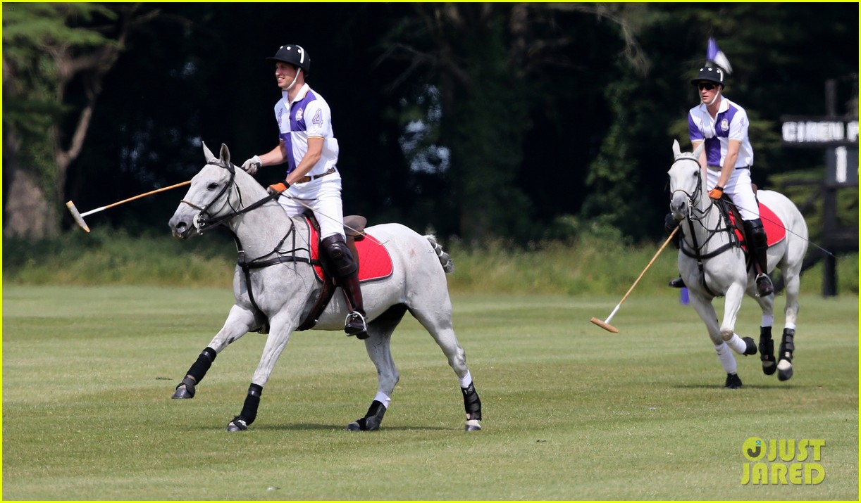 prince william harry jerudong trophy charity polo match 08