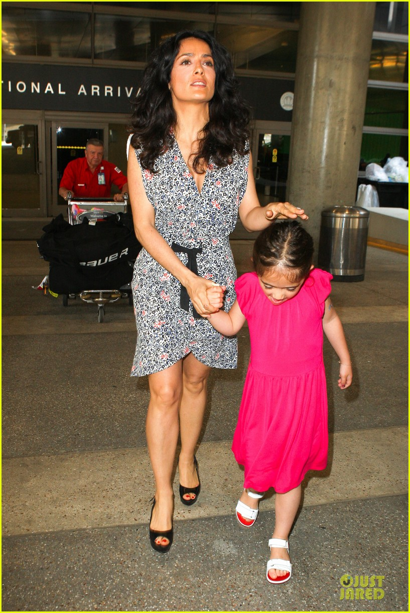 salma hayek valentina lax arrival before grown up 2 promotion 06