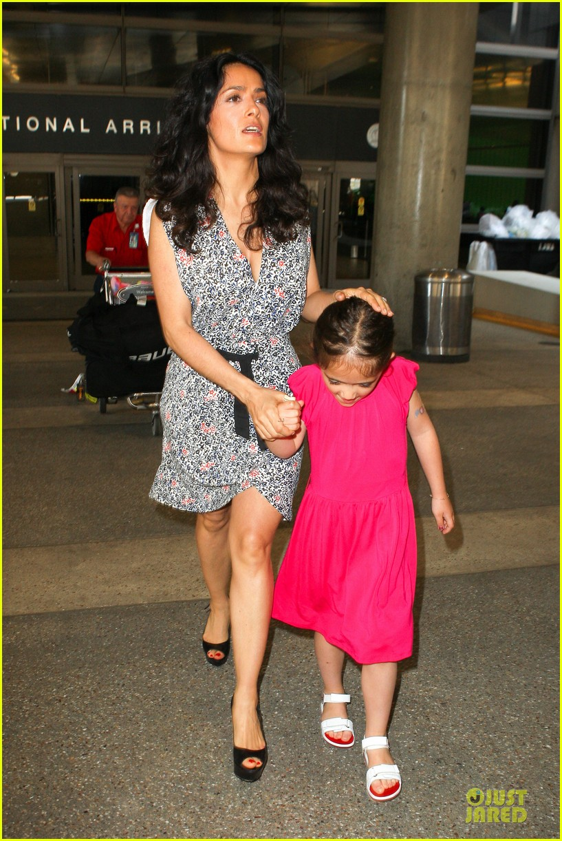 salma hayek valentina lax arrival before grown up 2 promotion 10