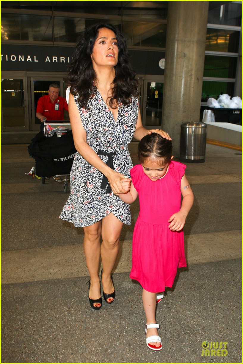 salma hayek valentina lax arrival before grown up 2 promotion 142902409