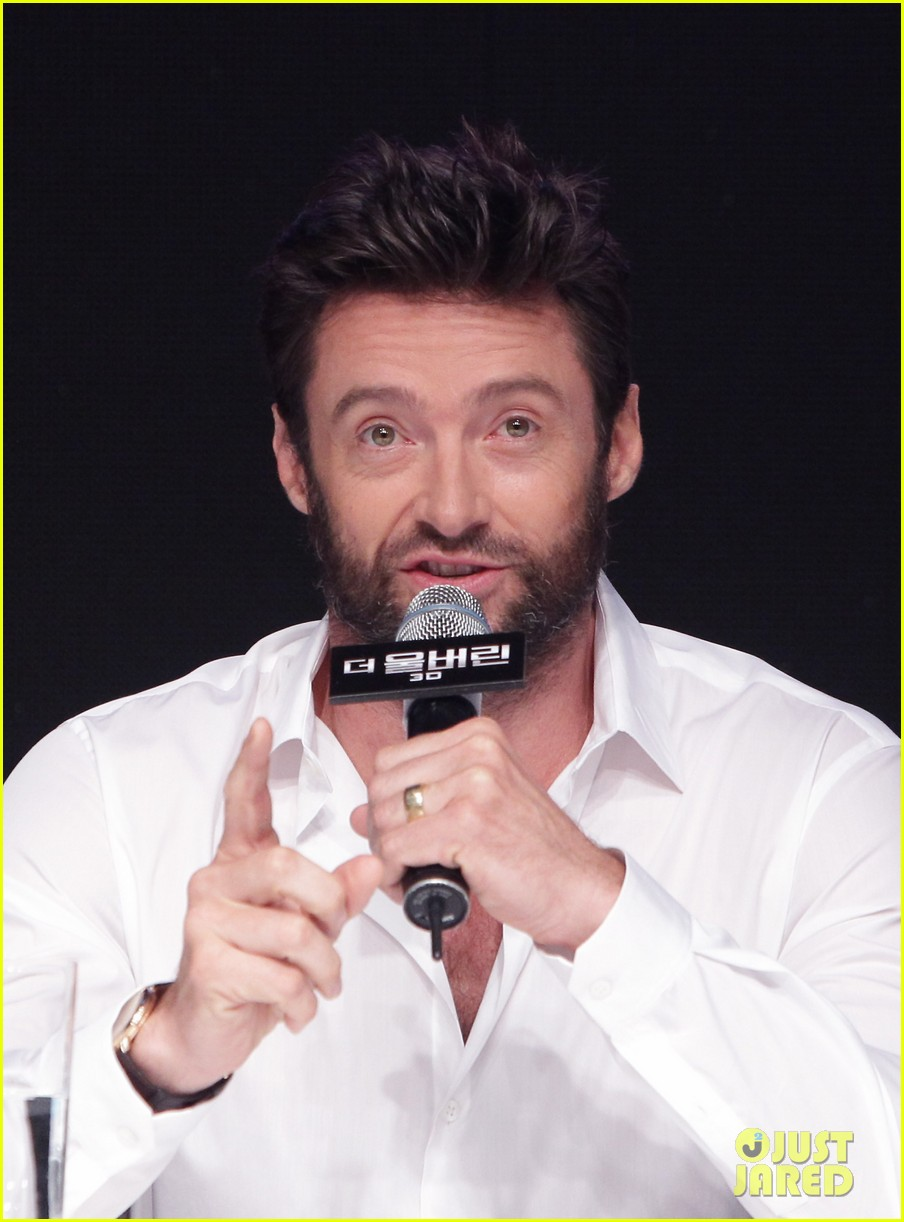 hugh jackman wolverine press conference in seoul 022909660