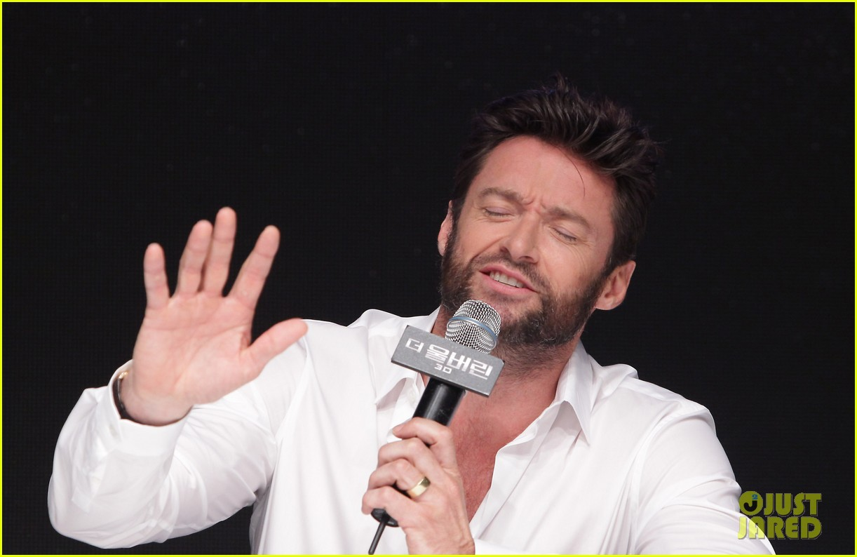 hugh jackman wolverine press conference in seoul 172909675