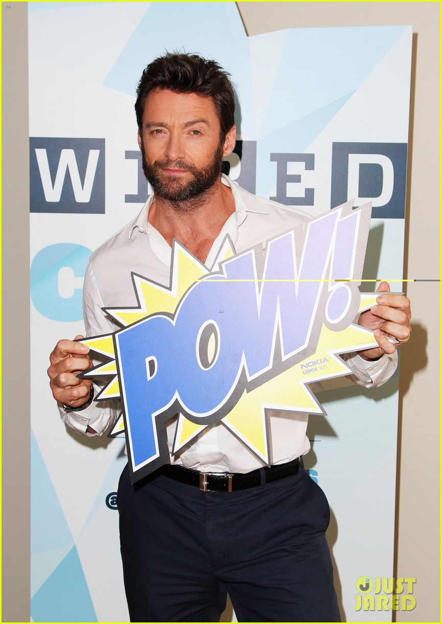hugh jackman matt smith wired cafe at comic con 18