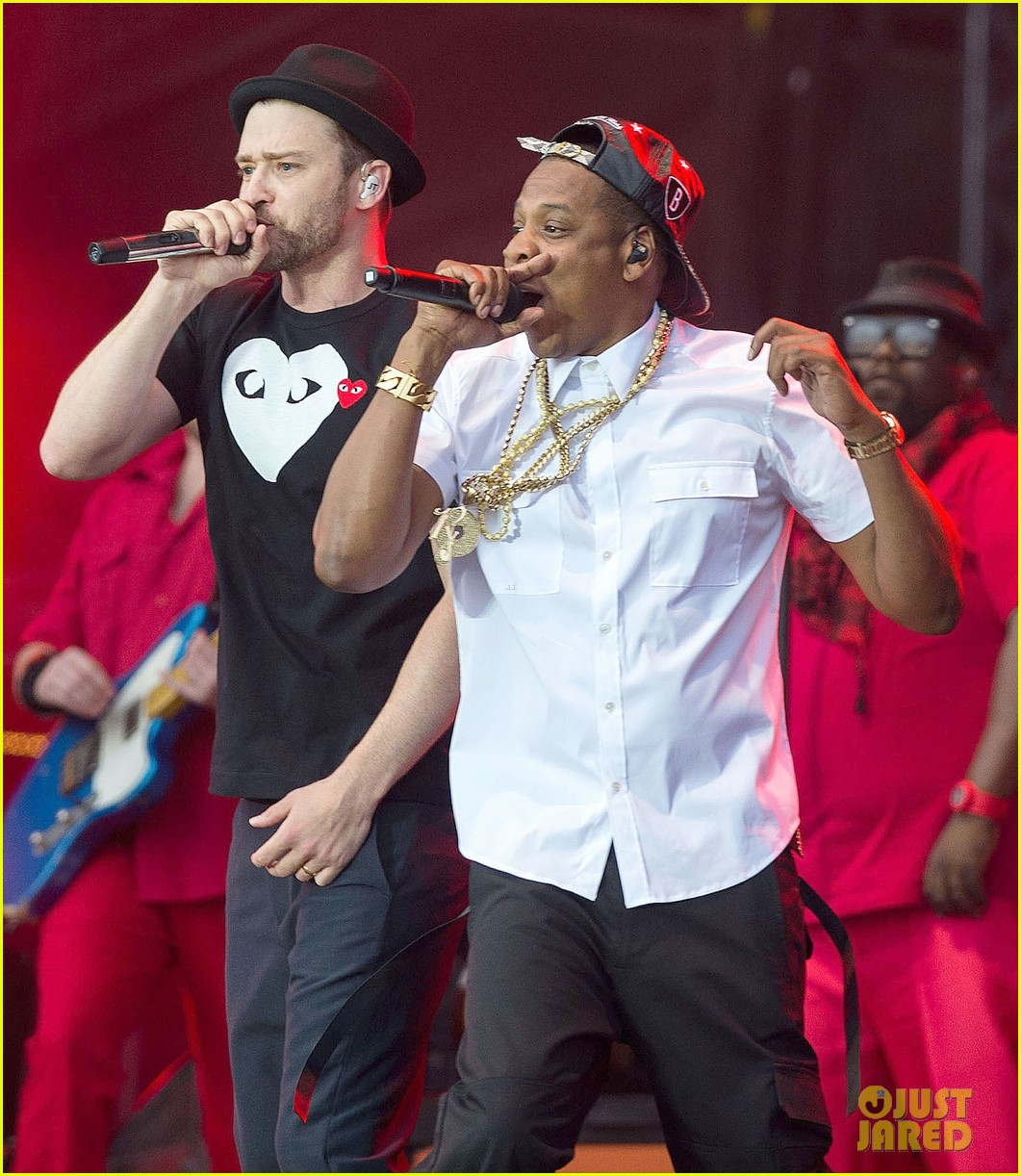 justin timberlake jay z perform at wireless festival 02