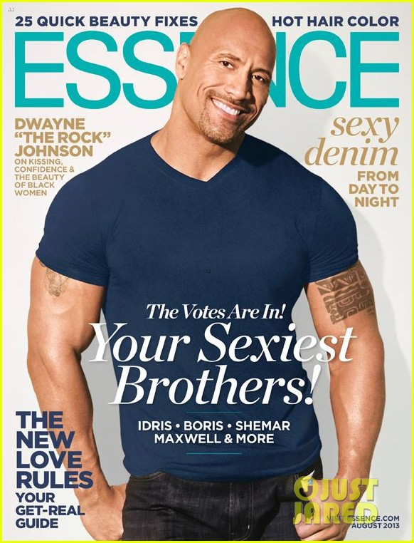 dwayne the rock johnson covers essence august 20132904909