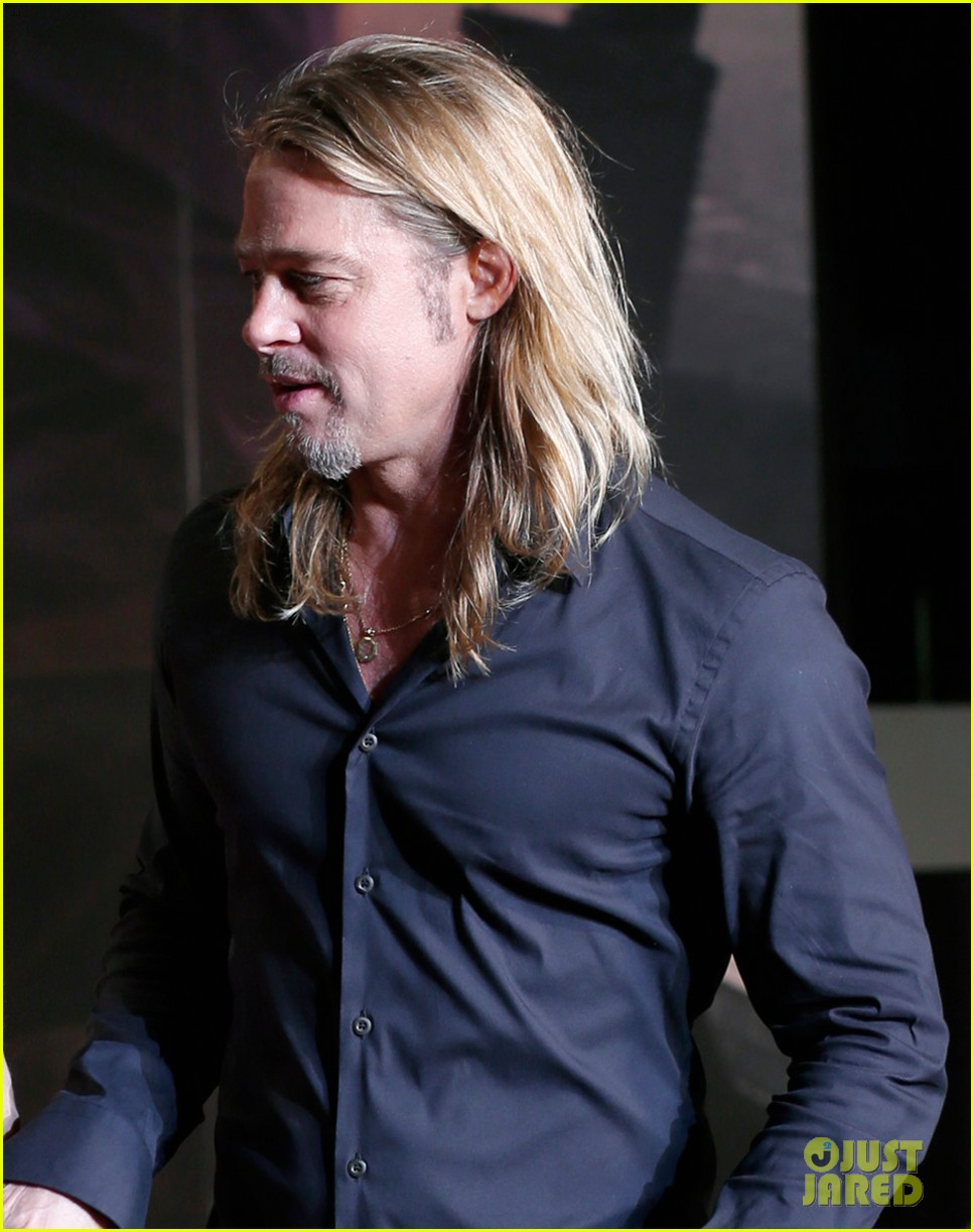 Brad Pitt World War z Hairstyle Brad Pitt 'world War Z'