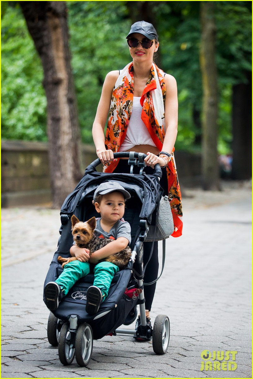 miranda kerr central park morning with flynn frankie 142917482