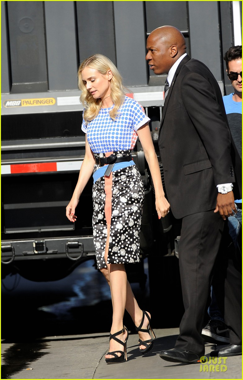 diane kruger the bridge promotion on jimmy kimmel live 012906817